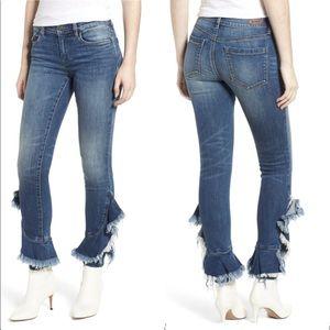 BLANK NYC Ruffle hem jeans